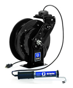 Graco SD Series 16 AWG Cord and LED Light Reel w/In-Line Tool Tap - 35 ft.