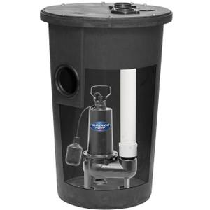 Decko 93015 1/2 HP Cast Iron Simplex Sewage Systems - 80 GPM
