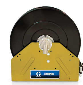 Graco XD40 1 in. x 50 ft. Yellow Air & Water Heavy Duty Spring Driven Hose Reel - Reel Only