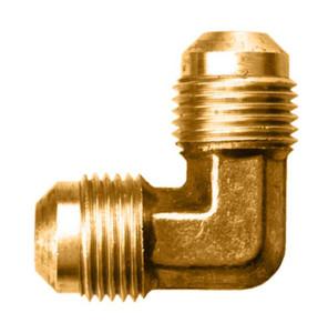 """Gas-Flo Brass SAE 45° Flare 90° Elbow - Tube to Tube Fitting - 1/2"""" - 750"""