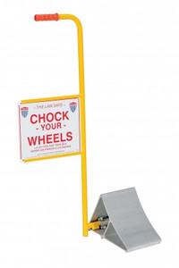 Vestil Aluminum Wheel Chock with Handle & Sign