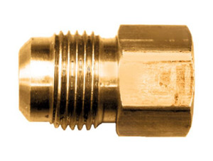 """Gas-Flo Brass S.A.E. 45° Flare Connector - Tube to Female Pipe Fitting - 3/8"""" - 3/8"""" - 1,000"""