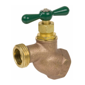 Smith Cooper Series 168 Heavy-Duty Brass Female NPT Inlet Hose Bibbs - 1/2 in. - 3/4 in.