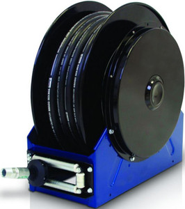 Graco XD 40 3/4 in. x 75 ft. Heavy Duty Spring Driven Oil Hose Reels (Blue) - Reel with Hose