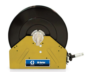 Graco XD 40 1 in. x 50 ft. Heavy Duty Spring Driven Oil Hose Reels (Yellow) - Reel with Hose