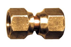 "Gas-Flo Brass S.A.E. 45° Flare Tube Coupling - Swivel Flare - 3/8"" - 1,000"