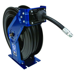 Graco XD 30 Series 1/2 in. x 75 ft. Heavy Duty Spring Driven Oil Hose Reels (Blue) - With Hose