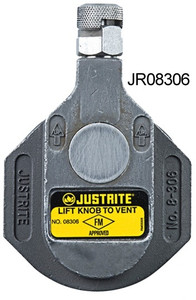Justrite 2 in. Stainless Steel Horizontal Drum Vent for Corrosive Fluids