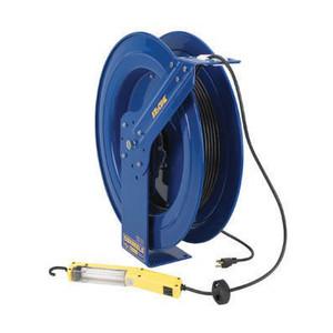 Coxreels EZ-PC Series Power Cord Reel w/ Fluorescent Tube Light - 50 ft. - 16 AWG