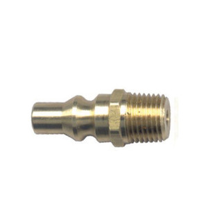 Gas-Flo 1/4 in. Recreational Vehicle Brass Valved Propane Quick Disconnect Plug