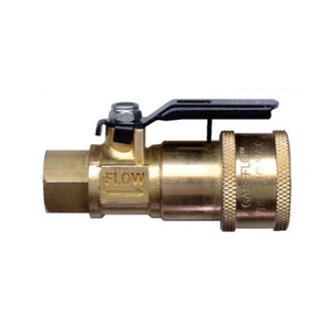 Gas-Flo 1/4 in. Recreational Vehicle Brass Valved Propane Quick Disconnect Coupler