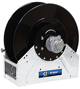 Graco XD 50 1 in. x 100 ft. Heavy Duty Spring Driven Fuel Hose Reels (White) - Bare Reel