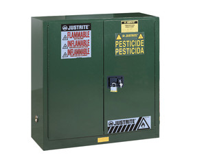 Justrite Sure-Gip Ex Safety 45 Gal Cabinets for Pesticides - 2 Door Self-Close
