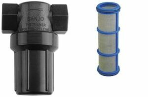 Banjo 1/2 in. Mini T Strainer Screens - 50 Mesh (Genetian Blue) - Replacement Screens Only, Strainer Not Included