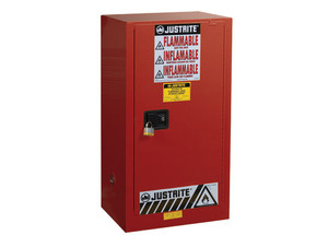 Justrite Sure-Grip Ex 20 Gallon Safety Cabinet for Paints & Inks - Manual Close