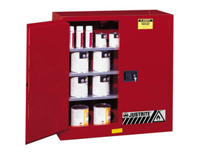 Justrite Sure-Grip Ex 40 Gallon Safety Cabinet for Paints & Inks - Self-Close