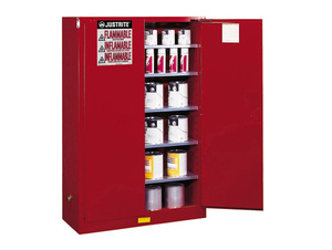 Justrite Sure-Grip Ex 96 Gallon Safety Cabinet for Paints & Inks - Self-Close
