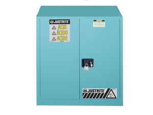 Justrite Sure-Grip Ex 30 Gallon Classic Safety Cabinet for Corrosives - Manual Close