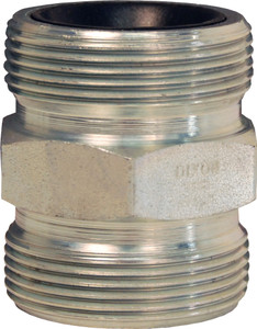 Dixon GJ Boss Ground Joint Seal Double Spud - 1/2 in. Wing Nut Thread x Wing Nut Thread