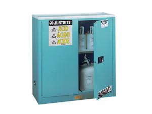 Justrite Sure-Grip Ex 45 Gallon Classic Safety Cabinet for Corrosives - Self-Close
