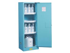 Justrite Sure-Grip Ex 22 Gallon Slimline Cabinet for Corrosives - Manual Close