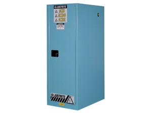 Justrite Sure-Grip Ex 54 Gallon Slimline Cabinet for Corrosives - Manual Close