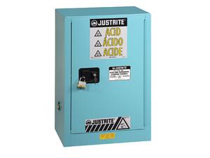 Justrite Sure-Grip Ex 15 Gallon Compac Cabinet for Corrosives - Self-Close