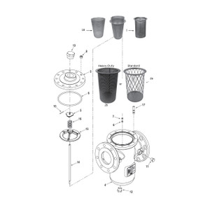 Smith E-Series Strainer Replacement Parts - 8 - 12 - Nut, M12