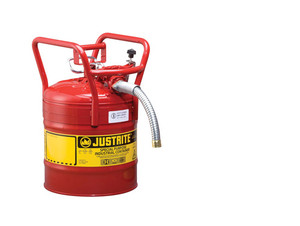 Justrite 7350130 5 Gallon UNO D.O.T. Safety Gas Can For Flammables w/ 1 in. Spout (Red)