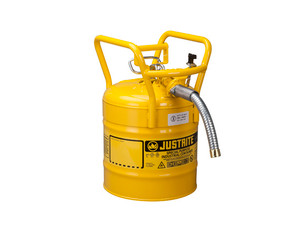 Justrite 5 Gal UNO D.O.T. Safety Gas Can For Flammables w/ 5/8 in. Spout (Yellow)