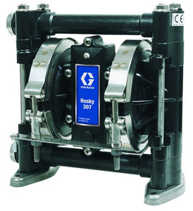 Graco Husky 307 Acetal Air 3/8 in. Diaphragm Pump w/Stainless Seats, PTFE Balls & Dia. - 7 GPM (GRD03311)