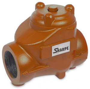 Sharpe 1 in. NPT Threaded Carbon Steel Oil Patch Swing Check Valve - 1440 PSI