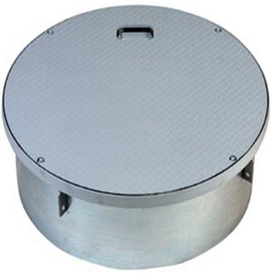 OPW 37 in. 120 Series Steel Roto-Lock Rain Tight Manhole with 10 in. Skirt