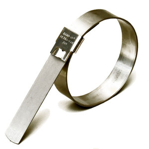 BAND-IT Ultra-Lok 3/4 in. W x 3 1/2 in Dia.Preformed Stainless Steel Hose Clamps - 50 / Box
