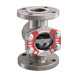 OPW 1 1/2 in. 316 Stainless Steel VISI-FLO 1400 Series Flanged Sight Flow Indicators w/ Flapper