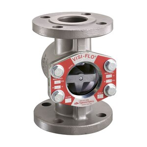 OPW 2 in. 316 Stainless Steel VISI-FLO 1400 Series Flanged Sight Flow Indicators w/ Flapper