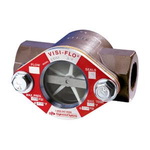 OPW 1/2 in. 316 Stainless Steel VISI-FLO 1400 Series High Pressure Threaded Sight Flow Indicators w/ Propeller