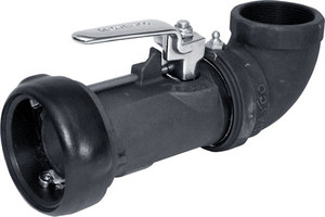 Dixon Bayco 2 in. Bayonet Style 90° Swivel Dry Disconnect Coupler x FNPT w/ Viton Seal