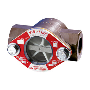 OPW 1 1/2 in. 316 Stainless Steel VISI-FLO 1400 Series High Pressure Threaded Sight Flow Indicators w/ Propeller