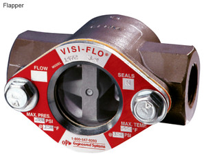 OPW 1 1/2 in. 316 Stainless Steel VISI-FLO 1400 Series High Pressure Threaded Sight Flow Indicators w/ Flapper