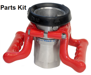 TODO-MATIC 4 in. Stainless Steel Dry Disconnect Coupler Seal Kit w/ Viton Seals & 150# Flanged Inlet