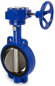 Sharpe 17 Series 14 in. Ductile Iron Gear Operated Butterfly Valve w/Nitrile Rubber Seals & SS Disc, Wafer Style