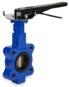 Sharpe 17 Series 12 in. Ductile Iron Lever Operated Butterfly Valve w/Nitrile Rubber Seals & SS Disc,  Lug Style