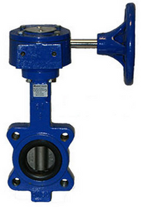 Sharpe 17 Series 5 in. Ductile Iron Gear Operator Butterfly Valve w/Nitrile Rubber Seals, Lug Style