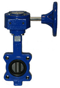 Sharpe 17 Series 6 in. Ductile Iron Gear Operator Butterfly Valve w/Nitrile Rubber Seals & SS Disc, Lug Style