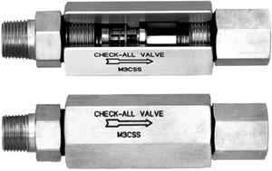 Check-All Valve Mini-Check 316 Stainless Steel Check Valves - 3/8 in. - Female NPT - Male NPT