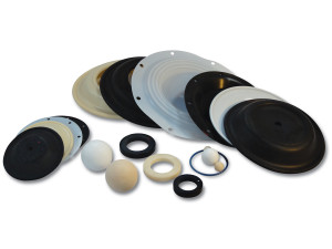 Nomad Elastomer Replacement Viton Diaphragms for Wilden 1 in. AODD Pumps - 02-1010-53