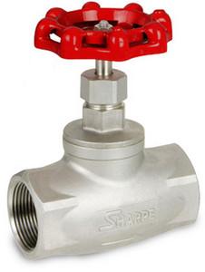 Sharpe Stainless Steel 200 WOG Globe Valve -Threaded or Socket Weld - 1/2 in. - Threaded
