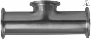 Dixon Sanitary B7MPS 304 Stainless Short Outlet Clamp Tees