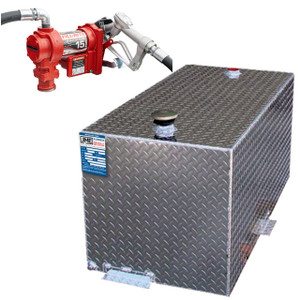 110 Gallon Fuel Transfer Tank - DOT Certified for Gas or Diesel w/ Fill-Rite FR1210 Pump
